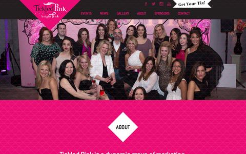 Screenshot of About Page tickledpinkchicago.com - Tickled Pink for BrightPink - captured Oct. 9, 2014