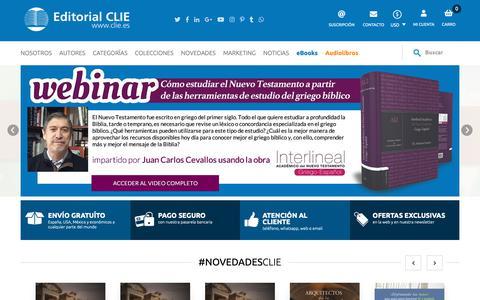 Screenshot of Home Page clie.es - Editorial Clie - Aprender, educar e inspirar - captured Sept. 27, 2018