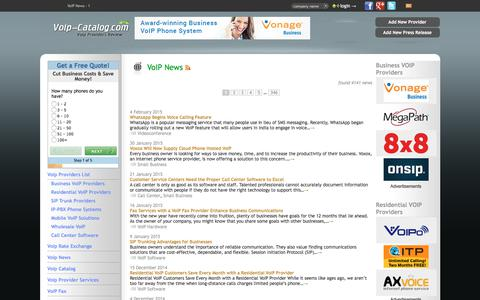 Screenshot of Press Page voip-catalog.com - VoIP News - 1 : voip providers, voip services review - captured Sept. 24, 2018