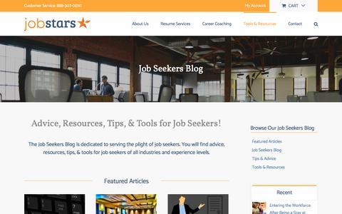Screenshot of Blog jobstars.com - Job Seekers Blog - Advice, Tips, & Resources for Job Seekers - JobStars - captured Sept. 24, 2018