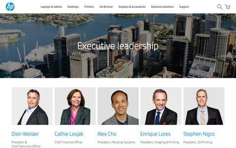 Screenshot of Team Page hp.com - Leadership Team  | HP® Official Site - captured June 26, 2018