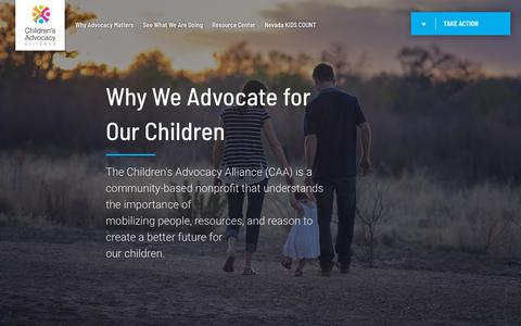 Screenshot of Contact Page caanv.org - CAANV - Why Advocacy Matters - captured Sept. 27, 2018