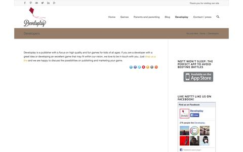 Screenshot of Developers Page developlay.nl - Developlay | Developers - Developlay - captured Oct. 5, 2014