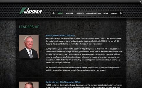 Screenshot of Team Page jersen.com - Leadership - Jersen Construction - captured Oct. 6, 2014