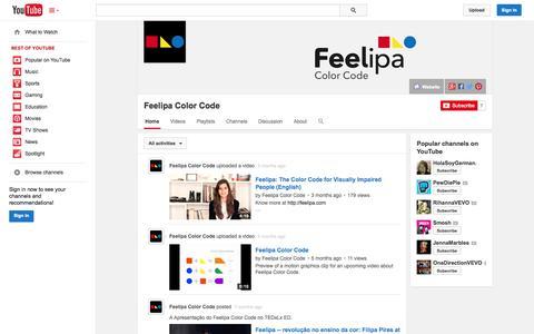 Screenshot of YouTube Page youtube.com - Feelipa Color Code  - YouTube - captured Oct. 23, 2014