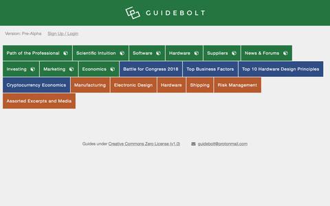 Screenshot of Home Page guidebolt.com - Guidebolt — Applied Intelligence Agency - captured Nov. 21, 2017
