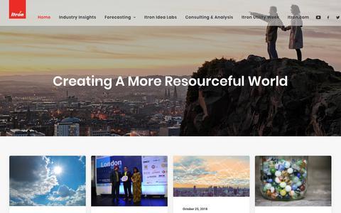 Screenshot of Blog itron.com - Itron – Creating a more resourceful world - captured Nov. 15, 2018