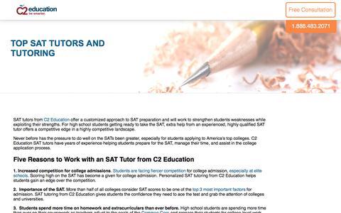 Screenshot of c2educate.com - Top SAT Tutors and Tutoring - captured July 11, 2017