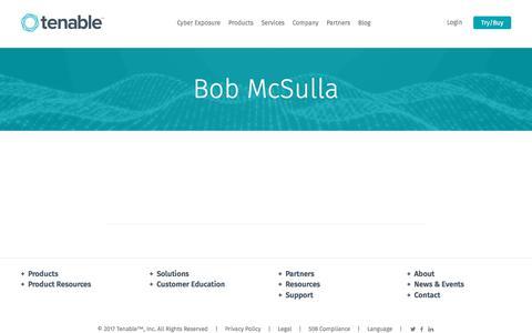 Bob McSulla | Tenable™