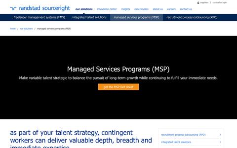 MSP Recruitment Services & MSP Staffing | Randstad Sourceright | Randstad Sourceright