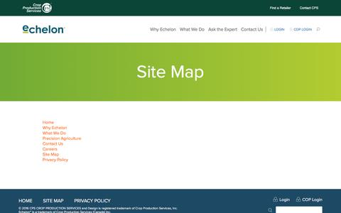 Screenshot of Site Map Page echelonag.ca - Site Map | Echelon - captured May 14, 2017