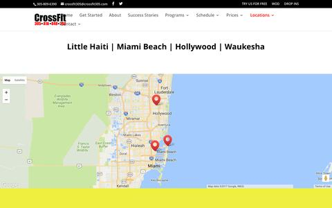 Screenshot of Locations Page crossfit305.com - Locations | CrossFit 305 - captured May 23, 2017