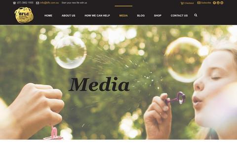 Screenshot of Press Page bflc.com.au - MEDIA ENQUIRIES - Brisbane Family Law Centre - captured Feb. 8, 2016