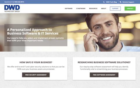 Screenshot of Home Page dwdtechgroup.com - DWD Technology Group | Business Software & IT Services - captured May 12, 2019
