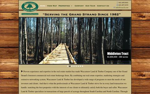 Screenshot of Home Page wacclt.com - Waccamaw Land & Timber - captured Oct. 6, 2014