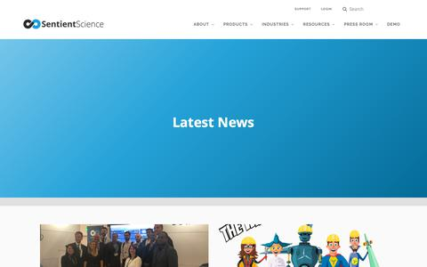 Screenshot of Press Page sentientscience.com - Application Performance Management & Monitoring   Sentient Science - captured Oct. 19, 2018