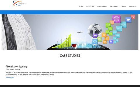 Screenshot of Case Studies Page xypress.com - Xypress:Big Data. Smart Analytics - captured Dec. 10, 2016