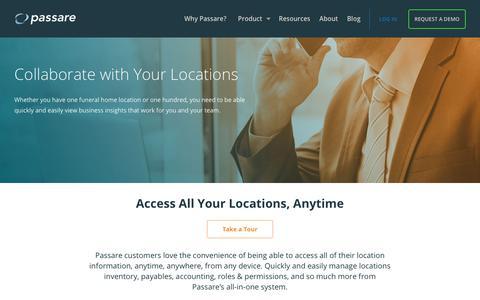 Screenshot of Locations Page passare.com - Locations – Passare - captured Sept. 24, 2018