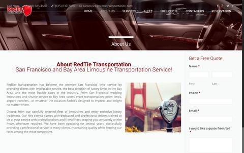 Screenshot of About Page redtietransportation.com - About Us   RedTie Transportation San Francisco - captured Dec. 13, 2016