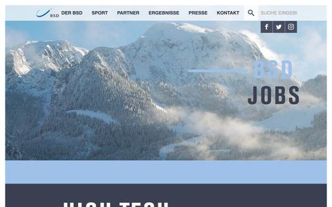 Screenshot of Jobs Page bsd-portal.de - BSD Portal: Jobs - captured Oct. 10, 2017