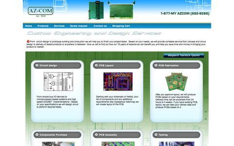 Screenshot of Services Page az-com.com - AZ-COM - Services - captured Oct. 4, 2014