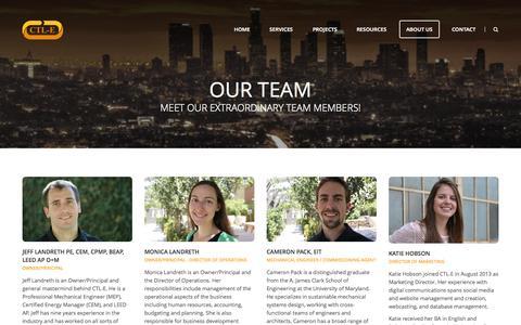 Screenshot of Team Page ctl-e.com - CTL-E   Our Team   Meet our extraordinary team members!CTL-E - captured Sept. 26, 2014