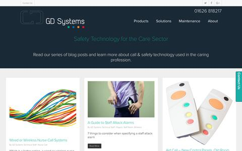Screenshot of Blog gdsystems.com - Safety Technology Blog | Latest Insights | GD Systems - captured Oct. 6, 2016