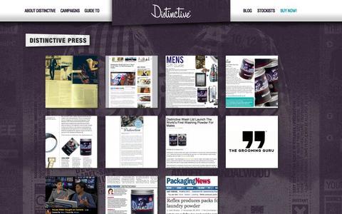 Screenshot of Press Page distinctivewash.co.uk - Press Releases Archive - Distinctive Wash - captured Nov. 3, 2014