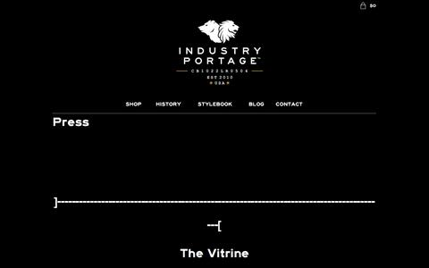 Screenshot of Press Page industryportage.com - Press - The Industry Portage Co. - captured Feb. 10, 2016