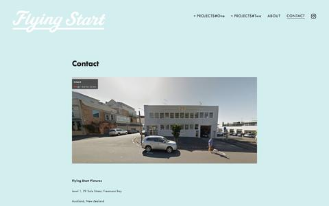 Screenshot of Contact Page flyingstart.co.nz - CONTACT — Flying Start - captured Aug. 4, 2016