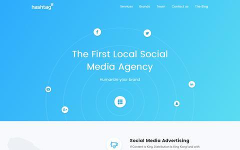 Screenshot of Home Page hashtag-me.com - Hashtag - Social Media Agency in KSA (Riyadh) & UAE (Dubai) - captured Sept. 27, 2018