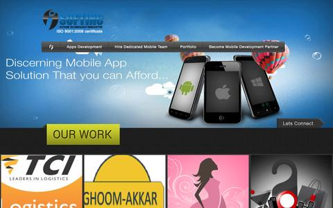 Screenshot of Home Page i-softinc.com - Professional Mobile app development company India - captured Feb. 17, 2016