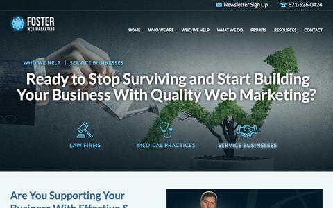 Service Business Web Marketing | Foster Web Marketing