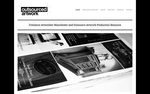 Screenshot of Home Page outsourcedartwork.co.uk - Freelance Artworker Manchester | Outsource Artwork Production Resource | Outsourced Artwork - captured Feb. 17, 2016