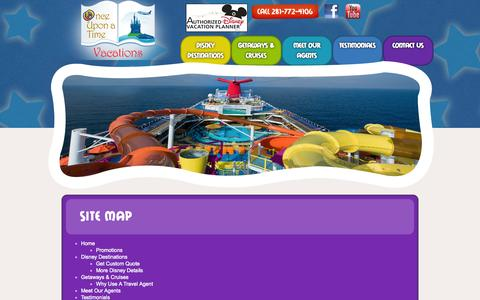 Screenshot of Site Map Page onceuponatimevacations.com - Site Map - captured Oct. 26, 2014