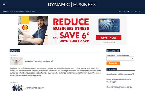 Screenshot of Team Page dynamicbusiness.com.au - Leadership | Dynamic Business - captured July 22, 2019