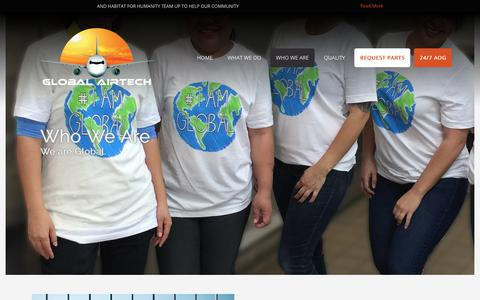 Screenshot of About Page globalairtech.com - Global Airtech - captured July 19, 2018