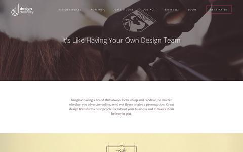 Screenshot of Case Studies Page designdelivery.co.uk - Life with Design Delivery - captured Nov. 24, 2016