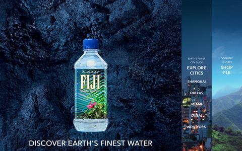 Screenshot of Home Page fijiwater.com - Natural Artesian Bottled Water | FIJI Water - captured Sept. 25, 2014