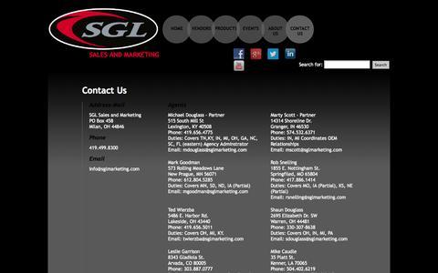 Screenshot of Contact Page sglmarketing.com - SGL Sales and Marketing  | Contact Us - captured Oct. 3, 2014