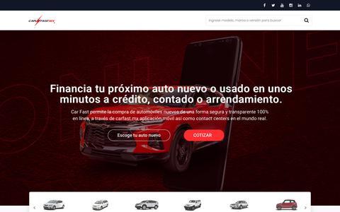 Screenshot of Home Page carfast.mx - Carros nuevos y Seminuevos de agencia a crédito o contado - Car fast - captured Oct. 8, 2019