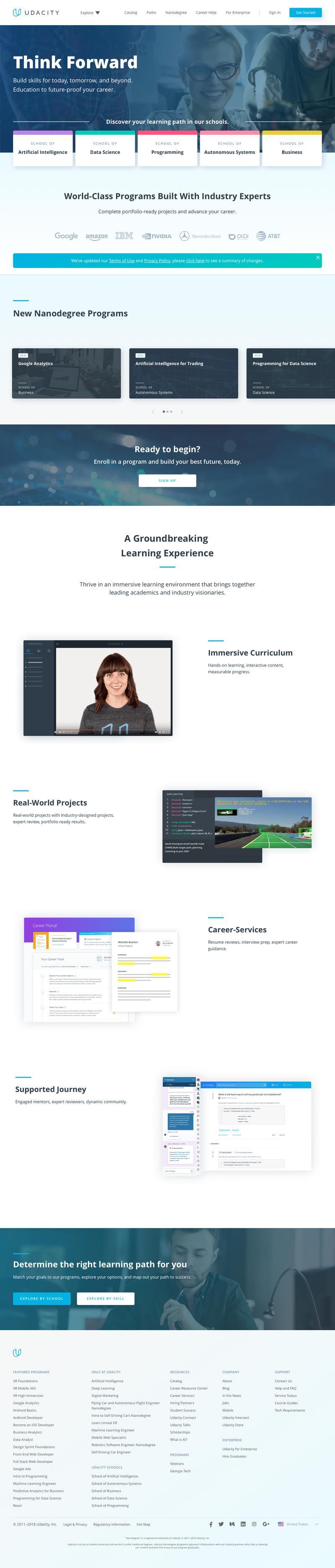 Web Design Timeline | A page on udacity com | Crayon