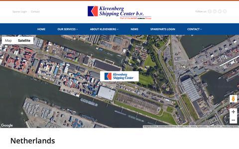 Screenshot of Contact Page klevenberg.com - Netherlands - Klevenberg Shipping Center - captured Oct. 15, 2018