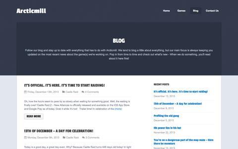 Screenshot of Blog arcticmill.com - Blog    Arcticmill - captured Sept. 30, 2014