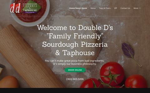 Screenshot of Home Page doubledspizza.com - Double D's Sourdough Pizzeria & Taphouse - Pizza, Beer | Double D's Sourdough Pizzeria & Taphouse - captured Oct. 12, 2017