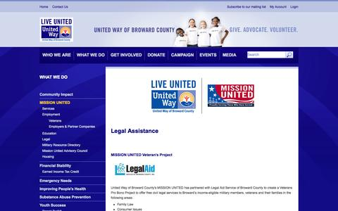 Screenshot of Terms Page unitedwaybroward.org - Mission United Legal Assistance | United Way of Broward County - captured Nov. 3, 2014