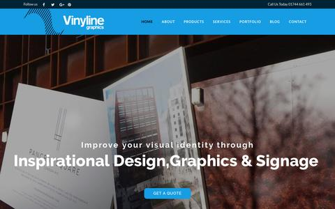 Screenshot of Home Page vinyline.co.uk - Business Signage & Vehicle Graphics - captured Nov. 8, 2016