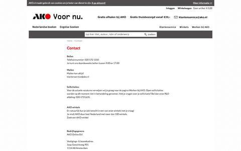 Screenshot of Contact Page ako.nl - Contact - AKO - captured July 28, 2018
