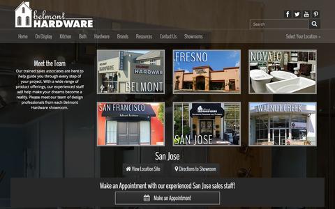 Screenshot of Team Page belmonthardware.com - Belmont Hardware Meet the Team - captured Dec. 31, 2015