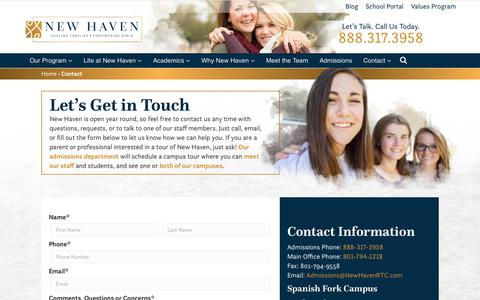 Contact and Location | About New Haven | New Haven RTC